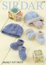 Sirdar Snuggly Tutti Frutti - 4790 Hats & Bootees KNitting Pattern